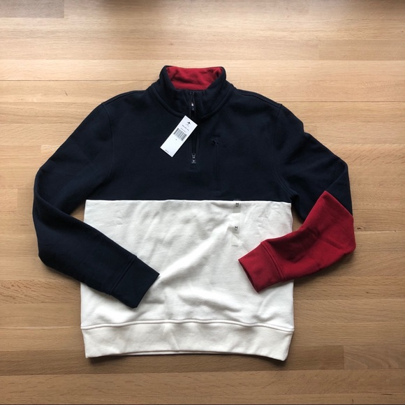 84bacef15bd Tommy Hilfiger Colorblock 1 4 zip pullover Medium